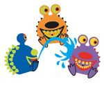Maru Spikey Monster Squirty Toy(3) Assorted
